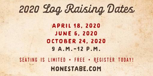 Plan to Attend Log Raisings & Home Tours in 2020