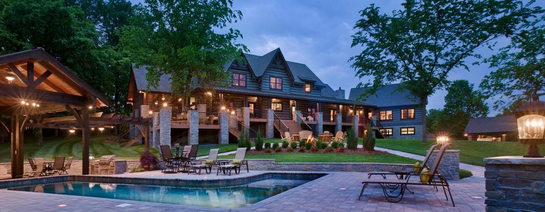 Log Home Estate with pool